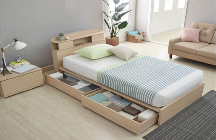 Как увеличить место спальной комнаты за счет умного хранения вещей